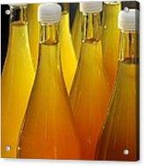 Apple Juice In Bottles Acrylic Print