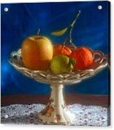 Apple Lemon And Mandarins. Valencia. Spain Acrylic Print