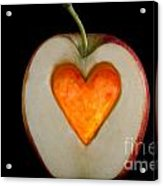 Apple With A Heart Acrylic Print by Mats Silvan