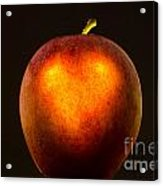 Apple With A Illuminated Heart Acrylic Print