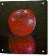 Apple With Reflection Acrylic Print