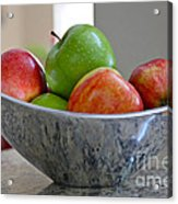 Apples In Fruit Bowl Acrylic Print