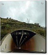 Approaching A Tunnel On A Highway In England Acrylic Print
