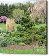 April Garden Acrylic Print