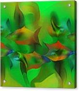 Aqua Residents Acrylic Print
