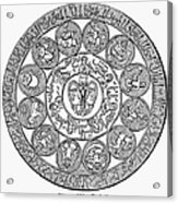 Arabic Zodiac Acrylic Print