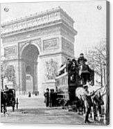Arc De Triomphe - Paris France - C 1898 Acrylic Print