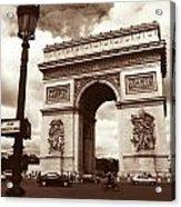 Arc De Triomphe Acrylic Print by Kathy Yates