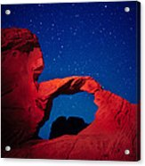 Arch In Red And Blue Acrylic Print