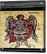 Archangel Michael Mosaic Acrylic Print