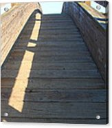Arched Pedestrian Bridge At Martinez Regional Shoreline Park In Martinez California . 7d10525 Acrylic Print