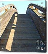 Arched Pedestrian Bridge At Martinez Regional Shoreline Park In Martinez California . 7d10526 Acrylic Print