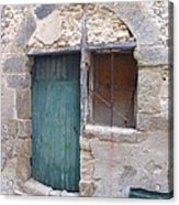Arched Stone Work Over Door Acrylic Print