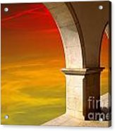 Arches At Sunset Acrylic Print by Carlos Caetano