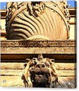 Architectural Detail . Large Urn With Lion Gargoyle  . Hearst Gym . Uc Berkeley . 7d10191 Acrylic Print