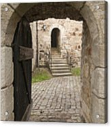 Archway - Entrance To Historic Town Acrylic Print