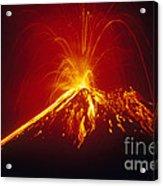 Arenal Volcano Erupting Acrylic Print