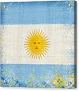 Argentina Flag Acrylic Print by Setsiri Silapasuwanchai