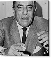 Aristotle Onassis, Circa Early 1970s Acrylic Print by Everett