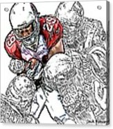 Arizona Cardinals Chester Taylor Seattle Seahawks David Hawthorne Clinton Mcdonald And Red Bryant Acrylic Print