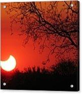 Arizona Eclipse At Sunset Acrylic Print