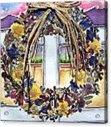 Arizona Wildflower Wreath Acrylic Print by Regina Ammerman
