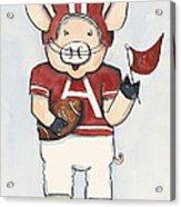 Arkansas Razorbacks - Football Piggie Acrylic Print