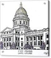 Arkansas State Capitol Acrylic Print by Frederic Kohli