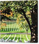 Arlington National Cemetery In The Fall  Acrylic Print