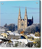 Armagh Cathedral In The Snow Acrylic Print