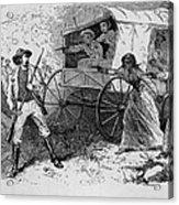 Armed Fugitive Slave Family Defending Acrylic Print