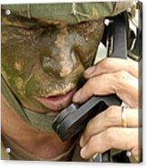 Army Master Sergeant Communicates Acrylic Print