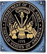 Army Medallion Acrylic Print