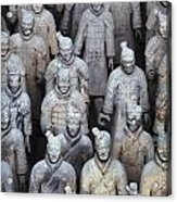 Army Of Terracotta Warriors In Xian Acrylic Print