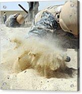 Army Soldier Pulls Himself Acrylic Print