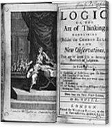 Arnauld & Nicole: Logic Acrylic Print