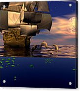 Arrival Of The Pilots Acrylic Print by Claude McCoy
