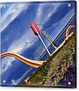Arrow Through Bay Bridge Acrylic Print