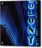 Colony Hotel Art Deco District Miami 2 Acrylic Print