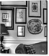 Art Room In Black And White Acrylic Print
