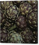 Artichokes At A Market In Provence Acrylic Print