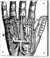 Artificial Hand Designed By Ambroise Acrylic Print
