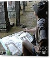 Artist At Ankor Wat Acrylic Print
