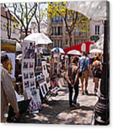 Artist Colony Of Montmartre Acrylic Print