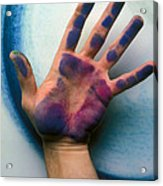 Artist Hand Acrylic Print by Garry Gay