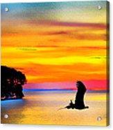 Artistic Conception Eagle Sundown Acrylic Print
