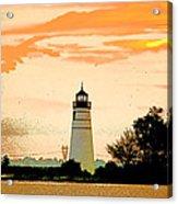 Artistic Madisonville Lighthouse Acrylic Print