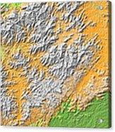 Artistic Map Of Southern Appalachia Acrylic Print