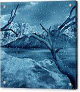 Artists Concept Of A Dangerous Snow Acrylic Print by Mark Stevenson