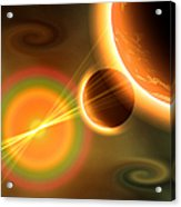 Artists Concept Of A Solar Storm Acrylic Print